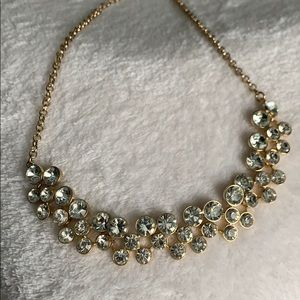 Accessories - Gold necklace with clear stones